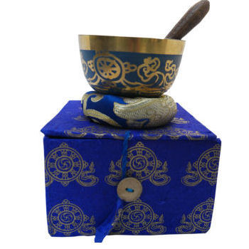 "3"" Blue singing bowl w/Box SB-139A"