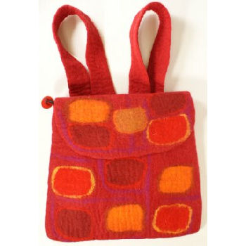 Fun wool backpack Red BB-006R