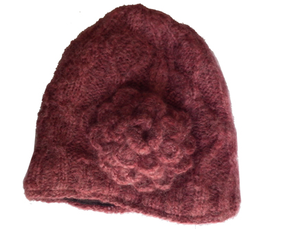 Wool hat Burgundy CP0009