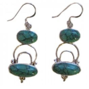 Double Turquoise Stone Earring