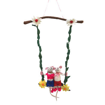 Couple Mice on the Swing FH-130