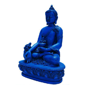 "Medicine Buddha Blue 6"" tall RB-859"