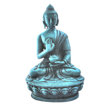 Meditating Buddha Turquoise lookong RB-960T