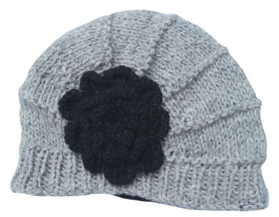 Light Grey Flower Hat CP-040B