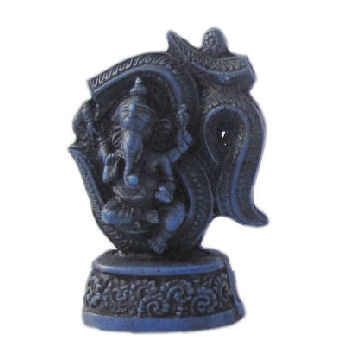 Ganesh Statue on OM Symbol Blue RG-075C