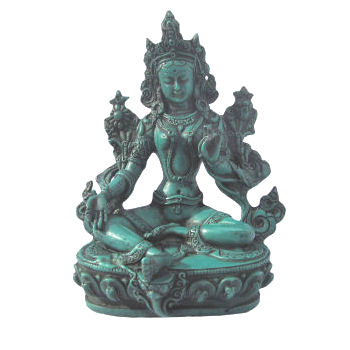 "Tara Statue Turuqoise looking 6"" tall RB-600T"