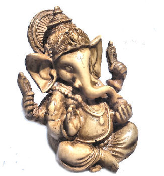 Ganesh with crown stone looking RG-070S