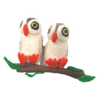 2 Owls on Branch FH-190