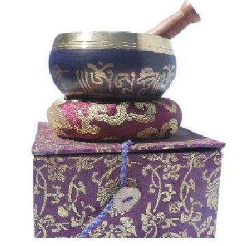 "3.5"" Purple singing bowl w/Box SB-039P"
