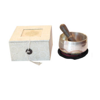 "3"" deep silver Singing bowl set SB-033S"